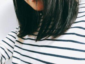 トリートメントした髪の毛