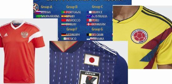 ロシアワールドカップのサッカーユニフォーム