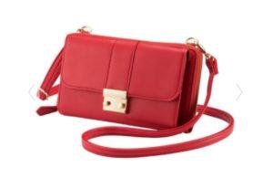 赤のショルダーバッグ
