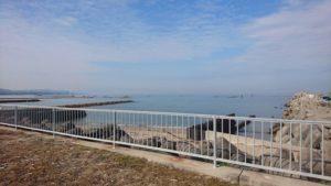 西鳥取漁港の海