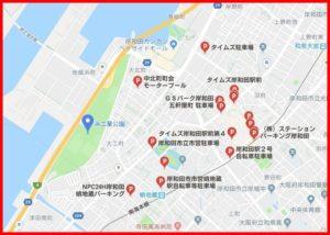 岸和田港まつり花火大会の駐車場