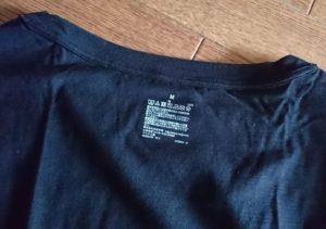 Tシャツのプリントタグ