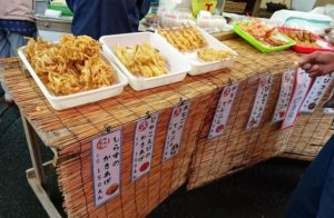 田尻朝市の天ぷら